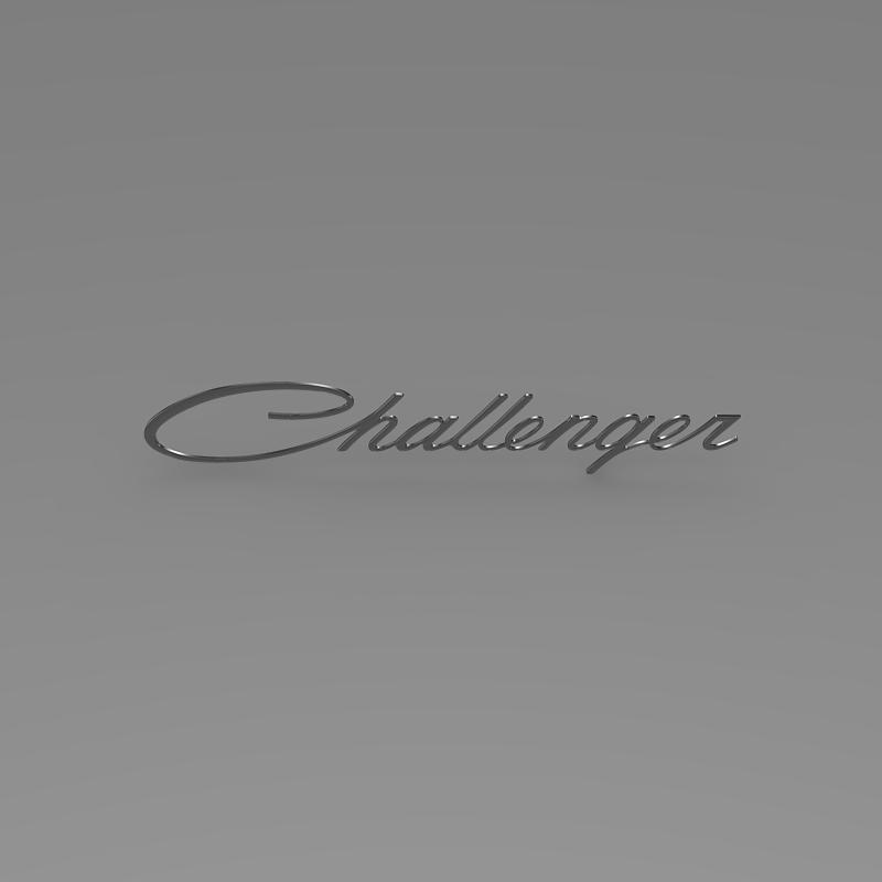 challenger logo 3d model 3ds max fbx c4d lwo ma mb hrc xsi obj 162818