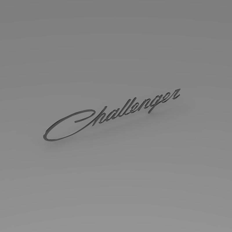challenger logo 3d model 3ds max fbx c4d lwo ma mb hrc xsi obj 162819