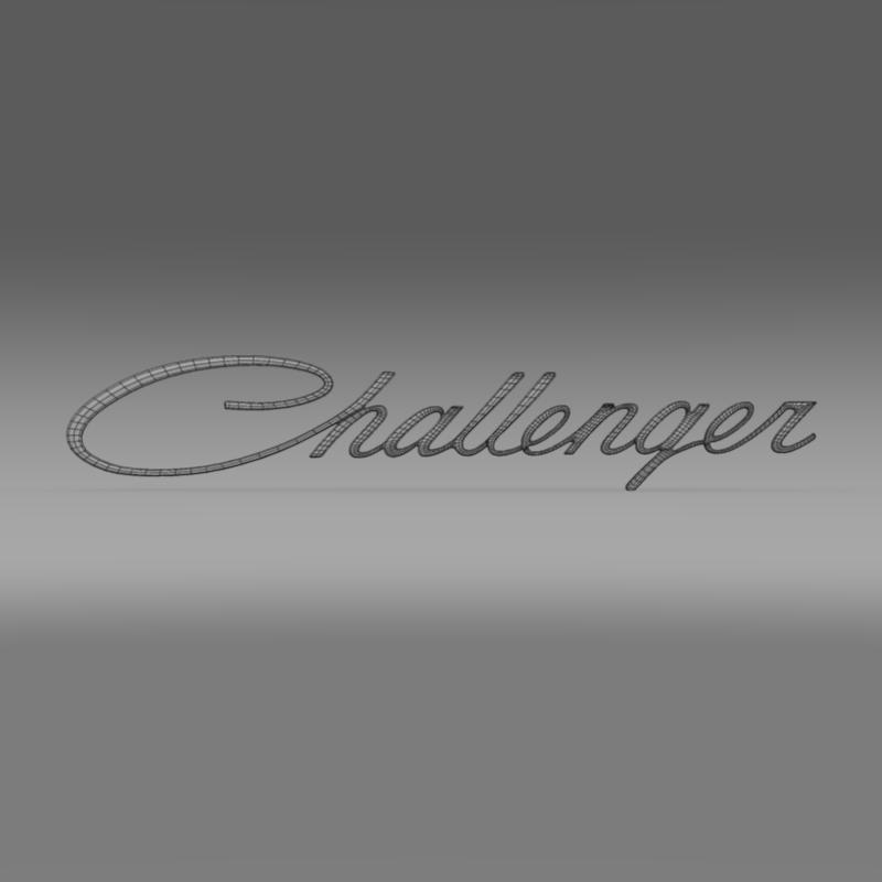 challenger logo 3d model 3ds max fbx c4d lwo ma mb hrc xsi obj 162820