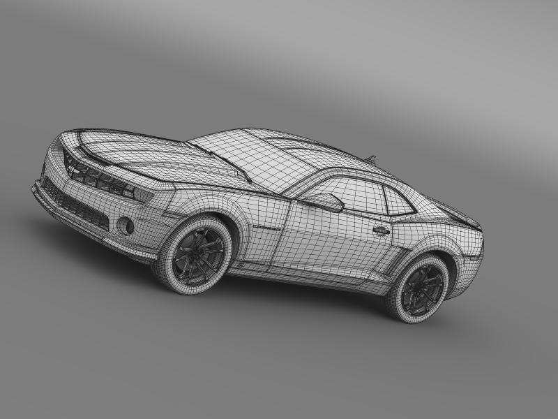 chevrolet camaro 1le 2013 3d model 3ds max fbx c4d lwo ma mb hrc xsi obj 148960