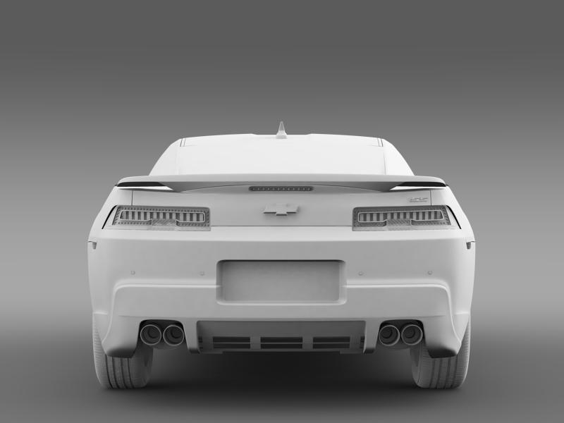 chevrolet camaro 1le 2014 3d model 3ds max fbx c4d lwo ma mb hrc xsi obj 160891