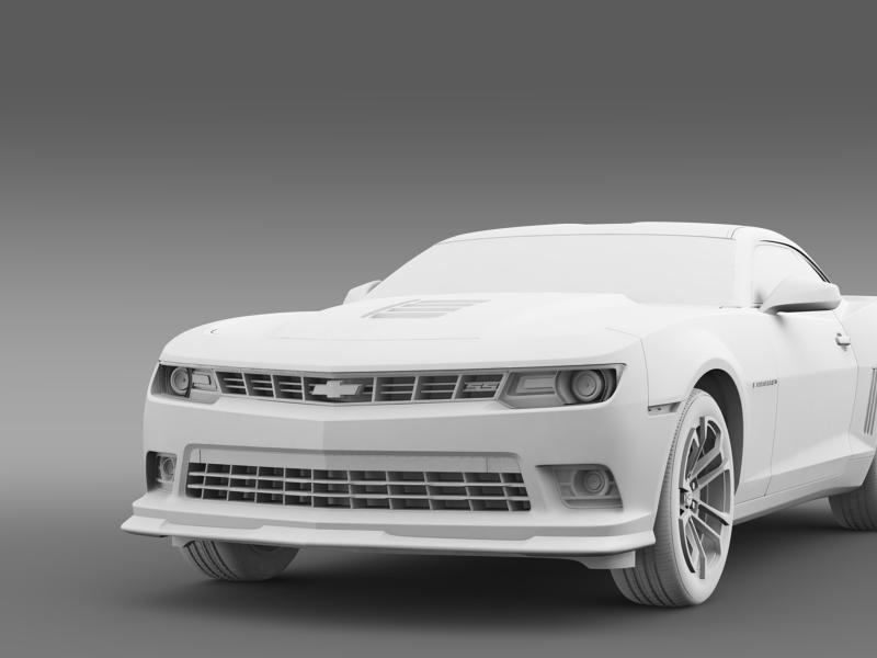 chevrolet camaro 1le 2014 3d model 3ds max fbx c4d lwo ma mb hrc xsi obj 160892