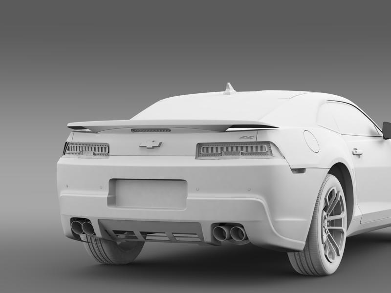 chevrolet camaro 1le 2014 3d model 3ds max fbx c4d lwo ma mb hrc xsi obj 160893