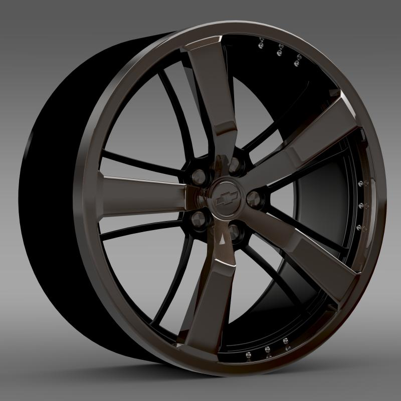 chevrolet camaro 2008 blackconcept rim 3d model 3ds max fbx c4d lwo ma mb hrc xsi obj 141426