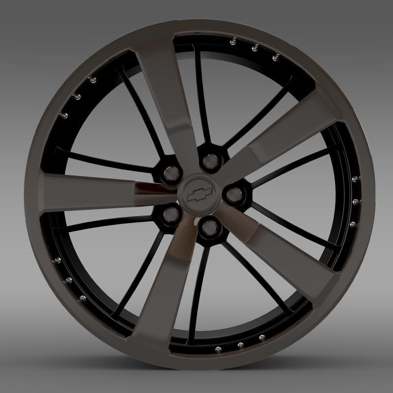 chevrolet camaro 2008 blackconcept rim 3d model 3ds max fbx c4d lwo ma mb hrc xsi obj 141428