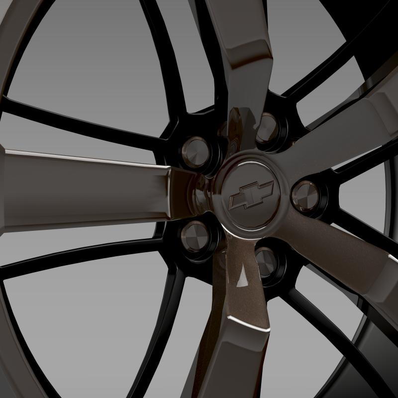 chevrolet camaro 2008 blackconcept rim 3d model 3ds max fbx c4d lwo ma mb hrc xsi obj 141429