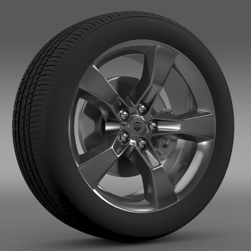 chevrolet camaro 2010 transformer wheel 3d model max fbx c4d ma mb hrc xsi obj 140560