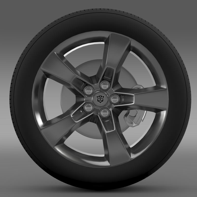 chevrolet camaro 2010 transformer wheel 3d model max fbx c4d ma mb hrc xsi obj 140562