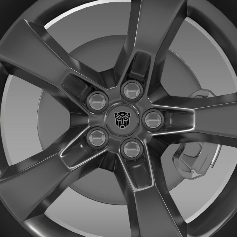 chevrolet camaro 2010 transformer wheel 3d model max fbx c4d ma mb hrc xsi obj 140565