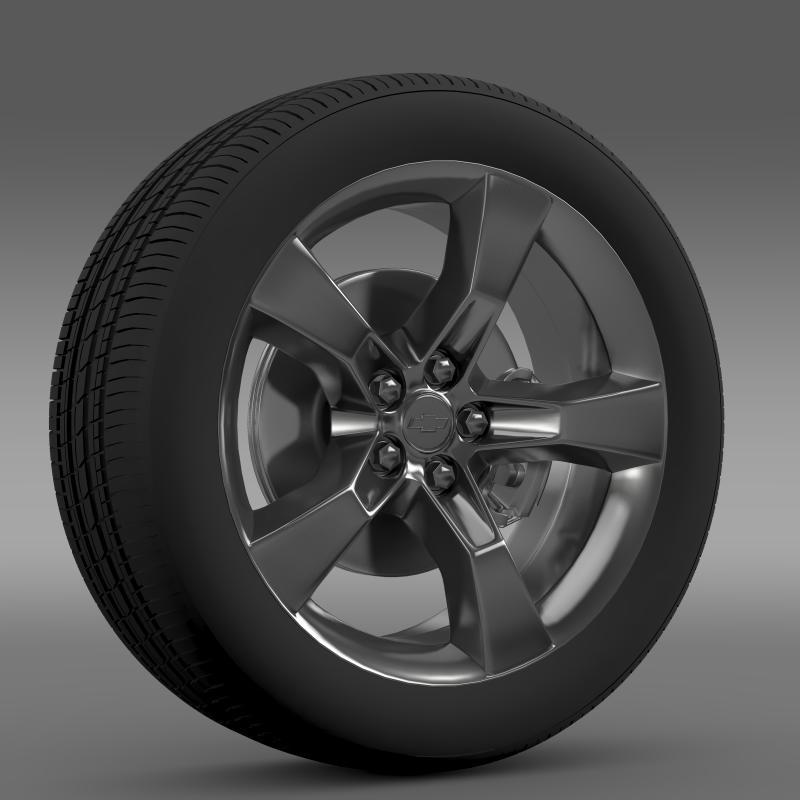 chevrolet camaro 2010 wheel 3d model 3ds max fbx c4d lwo ma mb hrc xsi obj 140573