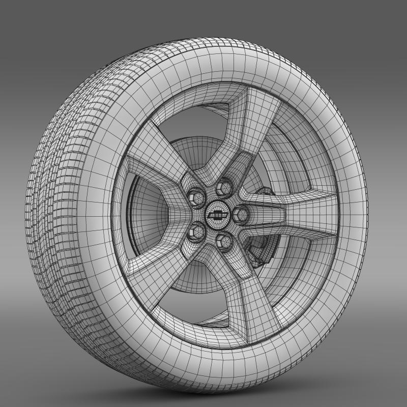 chevrolet camaro 2010 wheel 3d model 3ds max fbx c4d lwo ma mb hrc xsi obj 140585