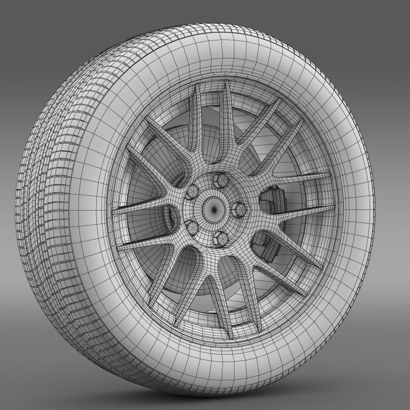 chevrolet camaro 2012 hennesey wheel 3d model 3ds max fbx c4d lwo ma mb hrc xsi obj 140598