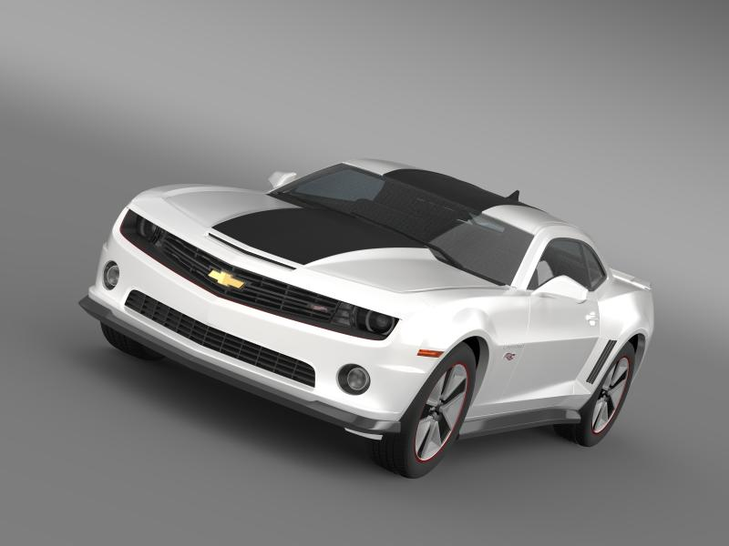 chevrolet camaro 2013 hot wheels 3d model 3ds max fbx c4d lwo ma mb hrc xsi obj 154373