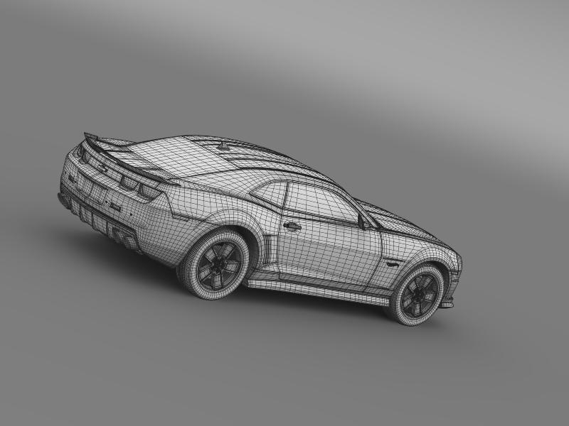 chevrolet camaro 2013 hot wheels 3d model 3ds max fbx c4d lwo ma mb hrc xsi obj 154391