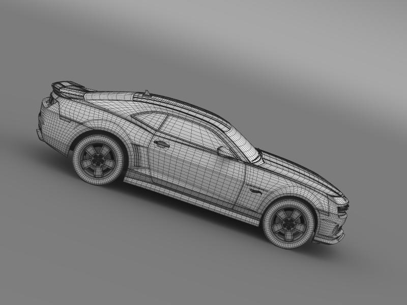 chevrolet camaro 2013 hot wheels 3d model 3ds max fbx c4d lwo ma mb hrc xsi obj 154392