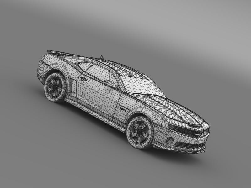 chevrolet camaro 2013 hot wheels 3d model 3ds max fbx c4d lwo ma mb hrc xsi obj 154393
