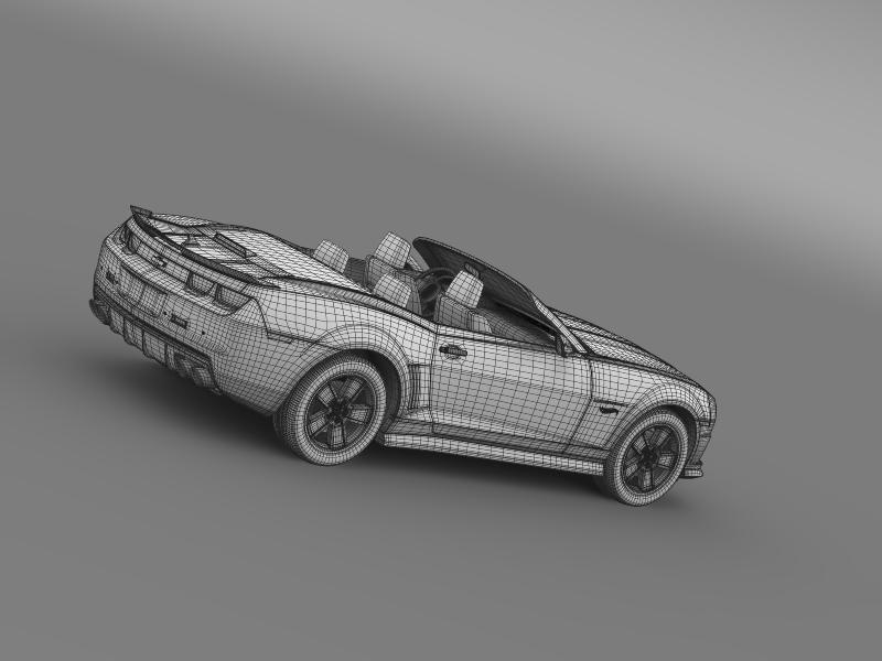 chevrolet camaro 2013 hotwheels se convertible 3d model 3ds max fbx c4d lwo ma mb hrc xsi obj 154412