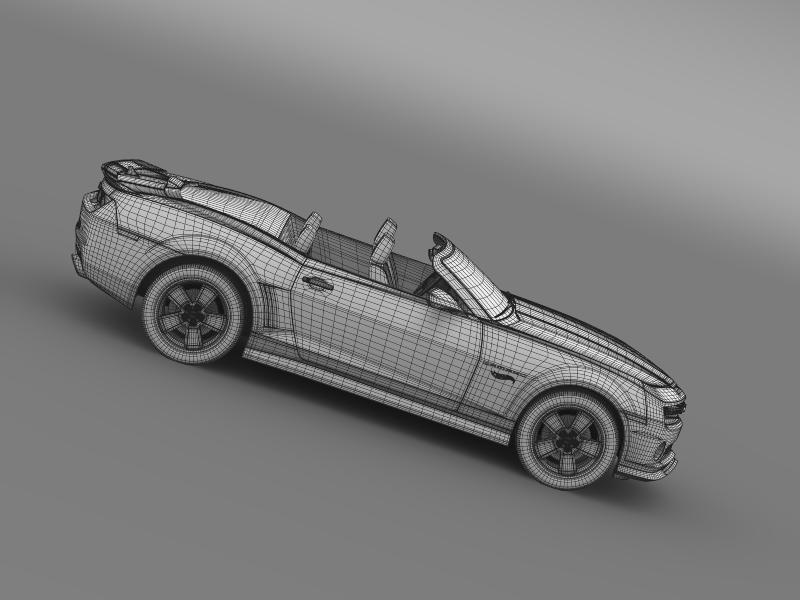 chevrolet camaro 2013 hotwheels se convertible 3d model 3ds max fbx c4d lwo ma mb hrc xsi obj 154413