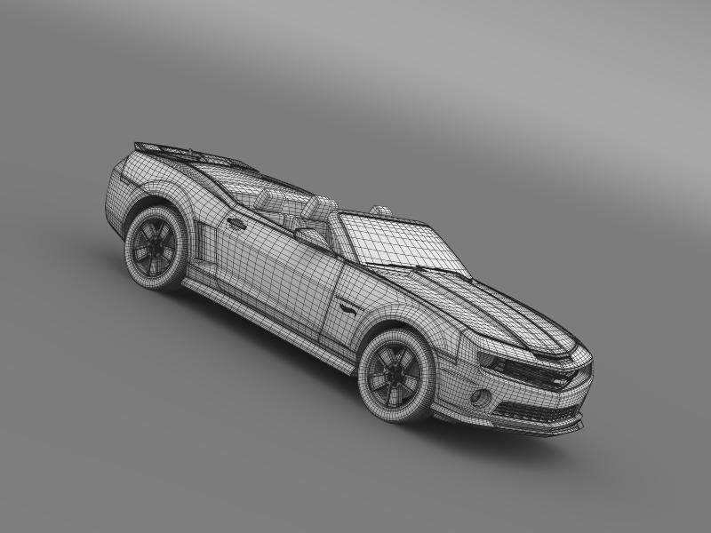 chevrolet camaro 2013 hotwheels se convertible 3d model 3ds max fbx c4d lwo ma mb hrc xsi obj 154414