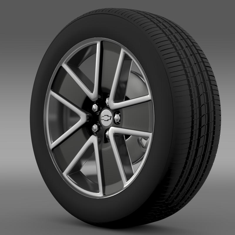 chevrolet camaro convertible 2007 wheel 3d model 3ds max fbx c4d lwo ma mb hrc xsi obj 140600