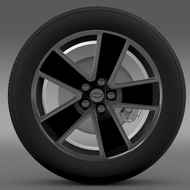 chevrolet camaro convertible 2007 wheel 3d model 3ds max fbx c4d lwo ma mb hrc xsi obj 140601