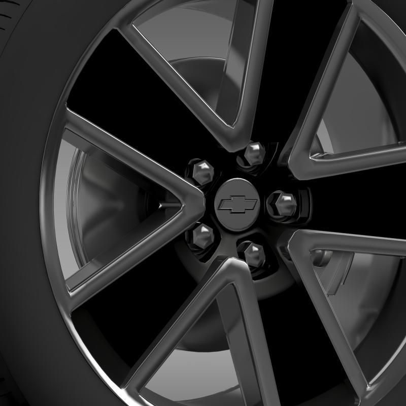 chevrolet camaro convertible 2007 wheel 3d model 3ds max fbx c4d lwo ma mb hrc xsi obj 140602