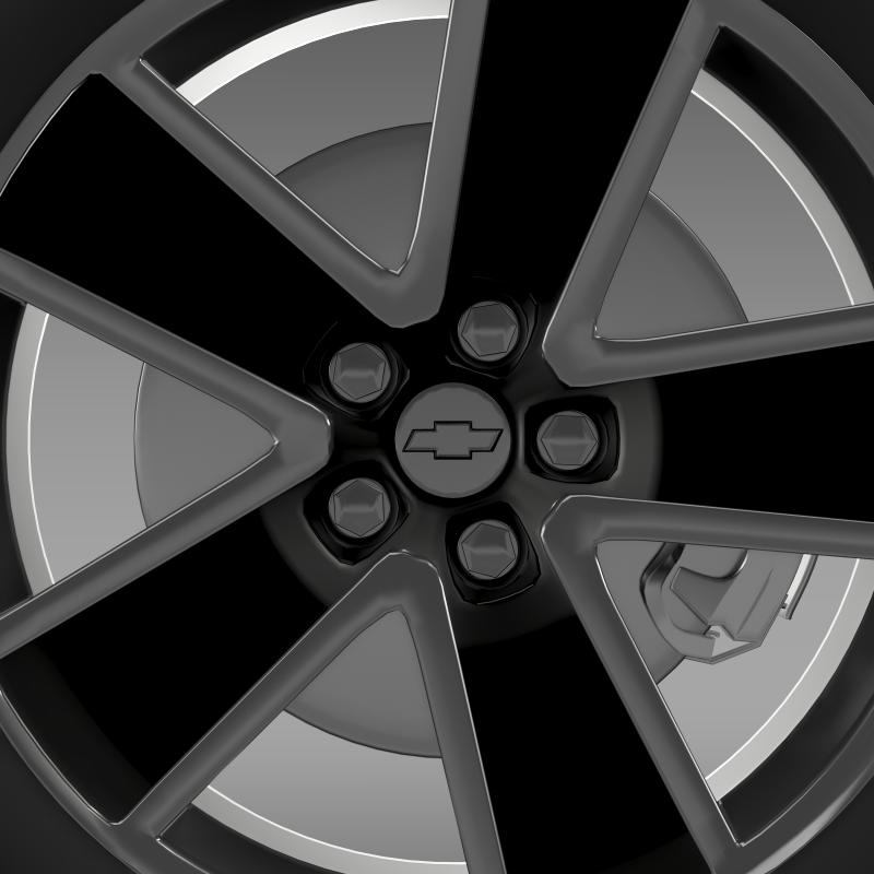 chevrolet camaro convertible 2007 wheel 3d model 3ds max fbx c4d lwo ma mb hrc xsi obj 140604