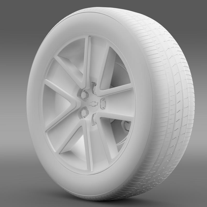 chevrolet camaro convertible 2007 wheel 3d model 3ds max fbx c4d lwo ma mb hrc xsi obj 140606
