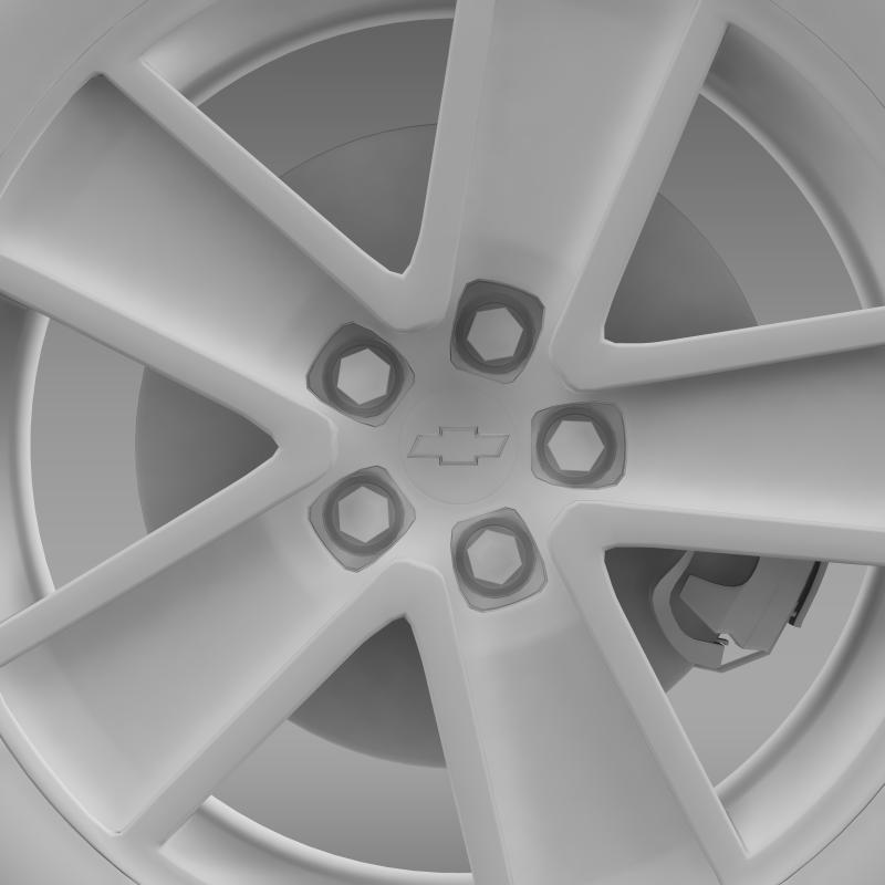 chevrolet camaro convertible 2007 wheel 3d model 3ds max fbx c4d lwo ma mb hrc xsi obj 140610