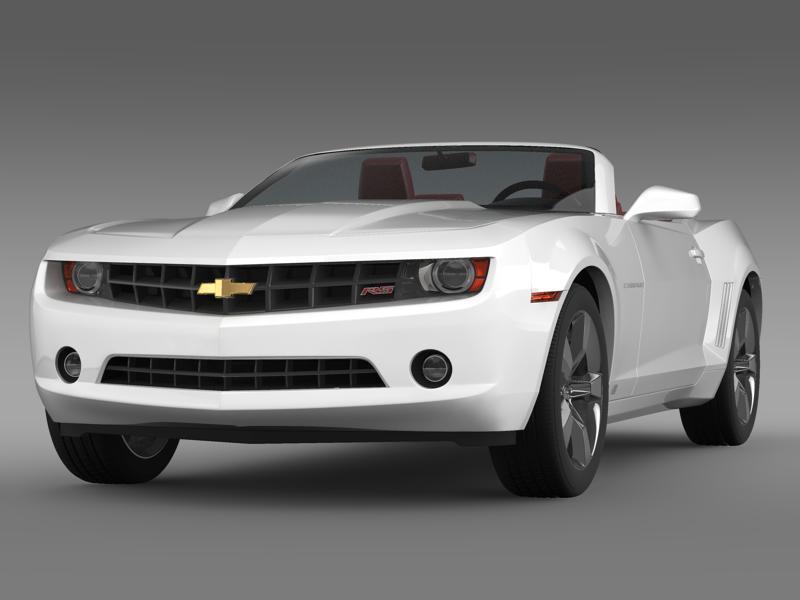 chevrolet camaro convertible 2011 3d model 3ds max fbx c4d lwo ma mb hrc xsi obj 144248