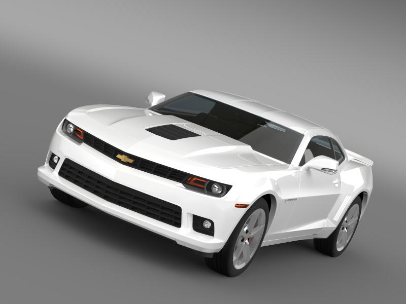 chevrolet camaro coupe eu 3d modell 3ds max fbx c4 lwo ma mb hrc xsi obj 160935
