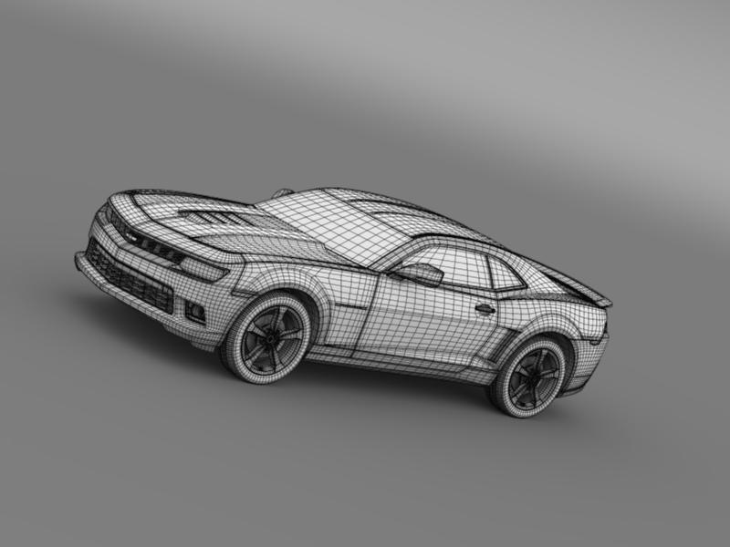 chevrolet camaro coupe eu 3d model 3ds max fbx c4d lwo ma mb hrc xsi obj 160952