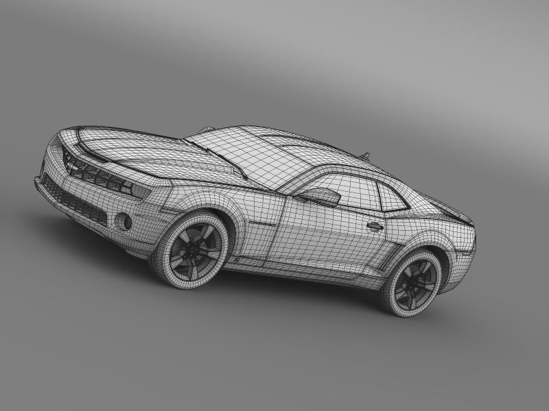 chevrolet camaro euversion 2012 3d model 3ds max fbx c4d lwo ma mb hrc xsi obj 149112