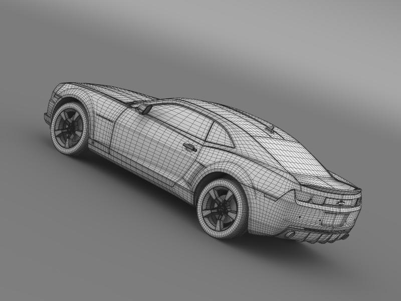 chevrolet camaro euversion 2012 3d model 3ds max fbx c4d lwo ma mb hrc xsi obj 149114