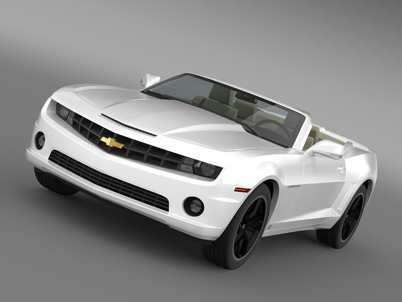 chevrolet camaro euversion 2012 convertible 3d model 3ds max fbx c4d lwo ma mb hrc xsi obj 149026