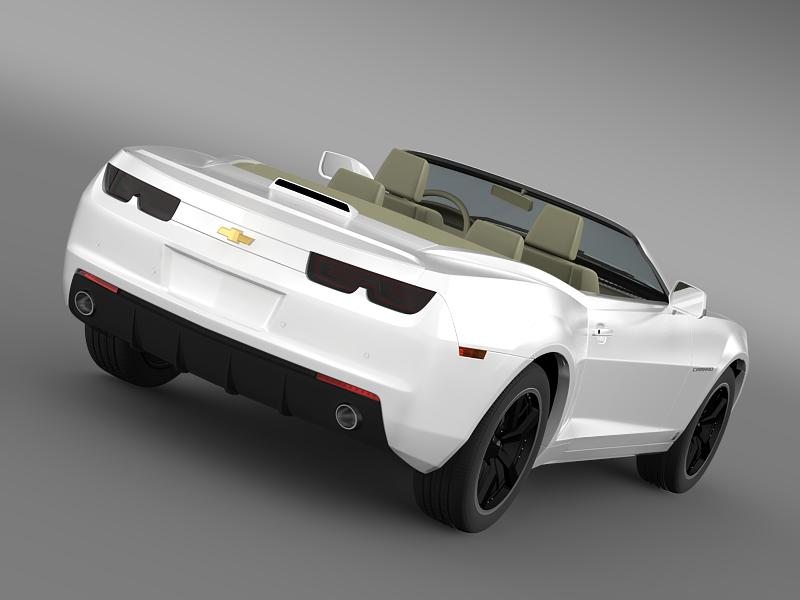 chevrolet camaro euversion 2012 convertible 3d model 3ds max fbx c4d lwo ma mb hrc xsi obj 149027