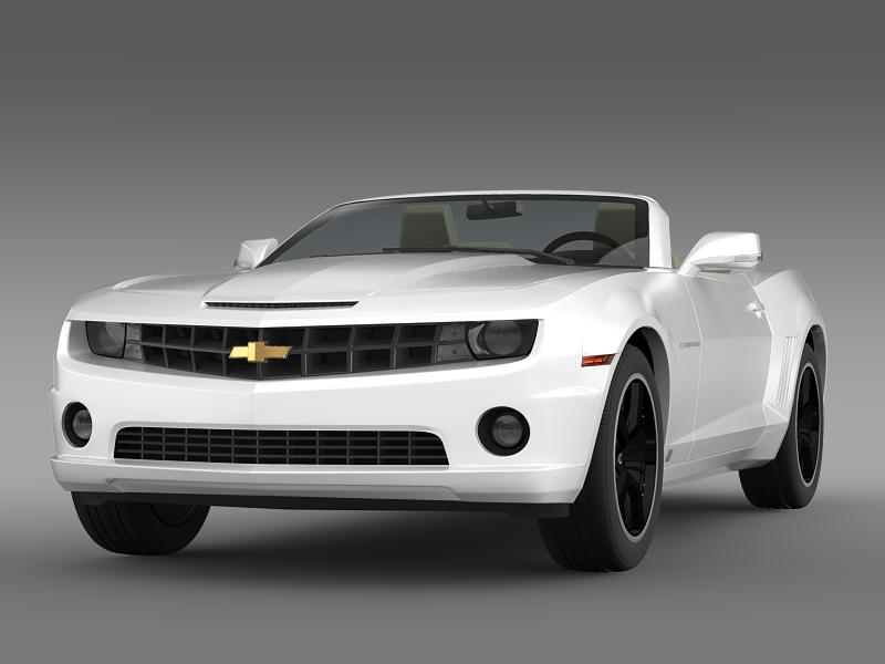 chevrolet camaro euversion 2012 convertible 3d model 3ds max fbx c4d lwo ma mb hrc xsi obj 149028