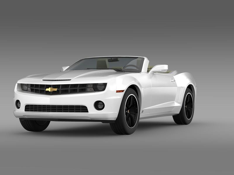 chevrolet camaro euversion 2012 convertible 3d model 3ds max fbx c4d lwo ma mb hrc xsi obj 149029