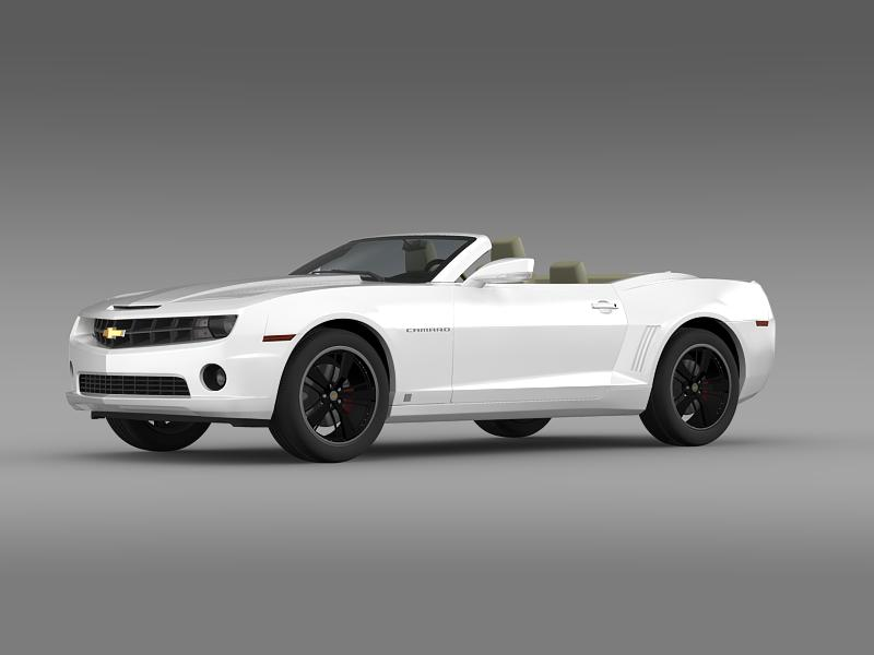 chevrolet camaro euversion 2012 convertible 3d model 3ds max fbx c4d lwo ma mb hrc xsi obj 149030