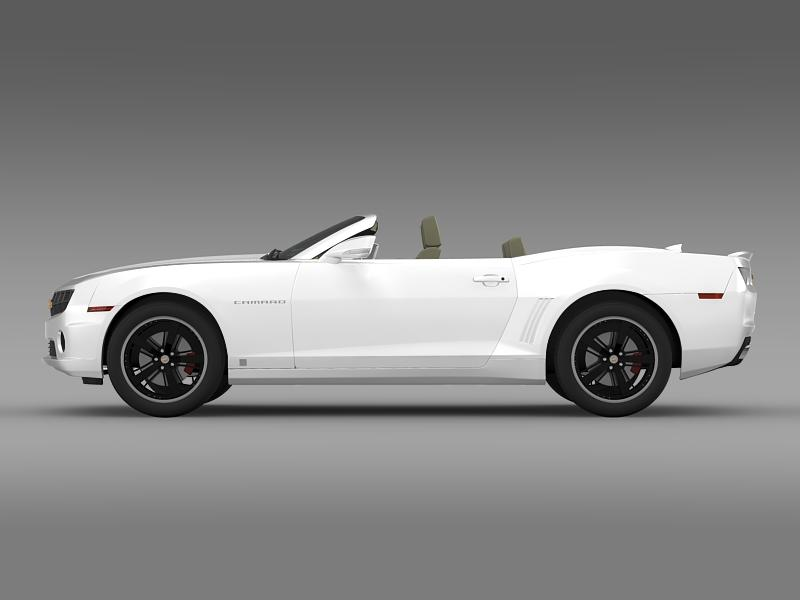 chevrolet camaro euversion 2012 convertible 3d model 3ds max fbx c4d lwo ma mb hrc xsi obj 149031
