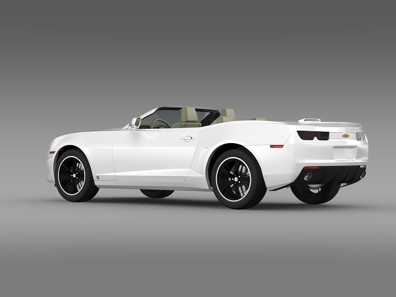 chevrolet camaro euversion 2012 convertible 3d model 3ds max fbx c4d lwo ma mb hrc xsi obj 149032