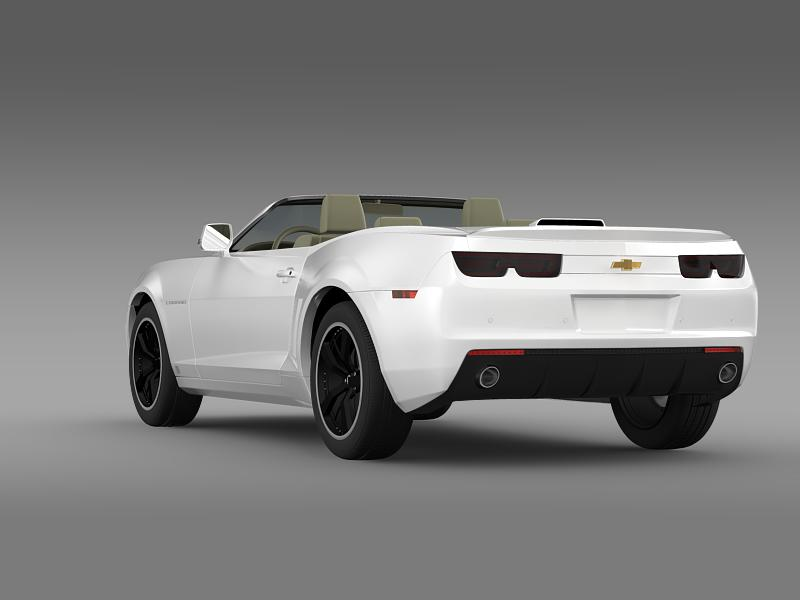 chevrolet camaro euversion 2012 convertible 3d model 3ds max fbx c4d lwo ma mb hrc xsi obj 149033