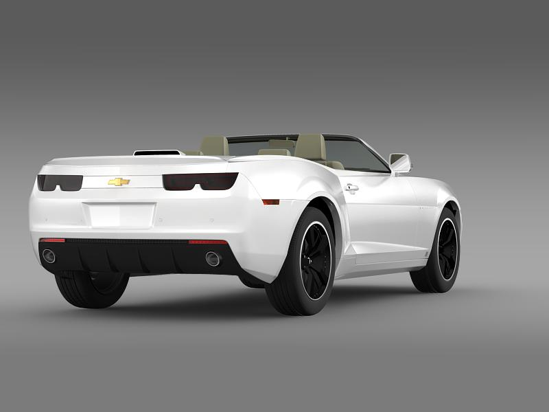 chevrolet camaro euversion 2012 convertible 3d model 3ds max fbx c4d lwo ma mb hrc xsi obj 149035