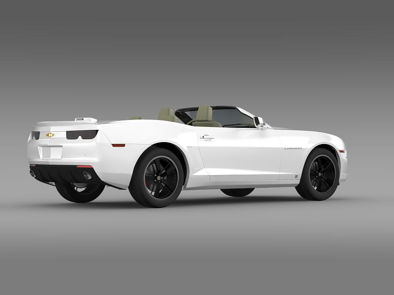 chevrolet camaro euversion 2012 convertible 3d model 3ds max fbx c4d lwo ma mb hrc xsi obj 149036