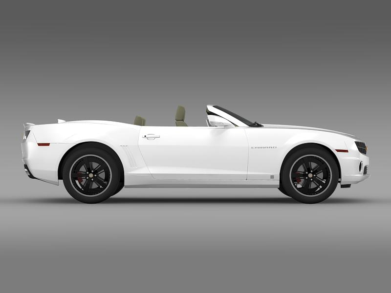 chevrolet camaro euversion 2012 convertible 3d model 3ds max fbx c4d lwo ma mb hrc xsi obj 149037