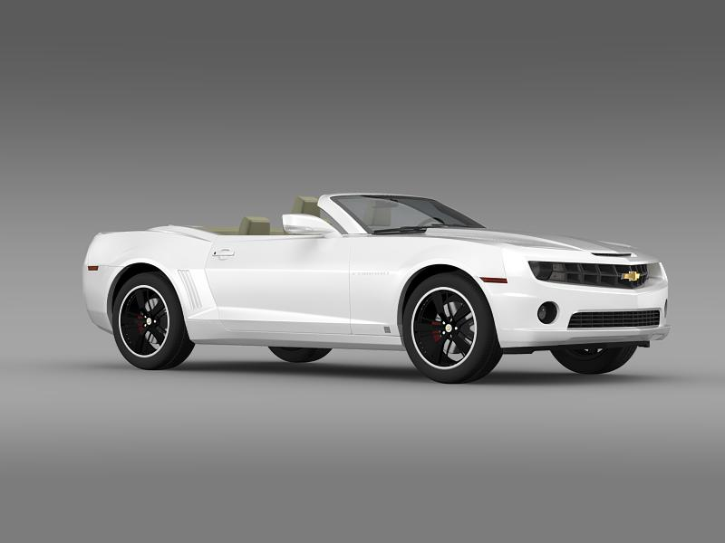chevrolet camaro euversion 2012 convertible 3d model 3ds max fbx c4d lwo ma mb hrc xsi obj 149038