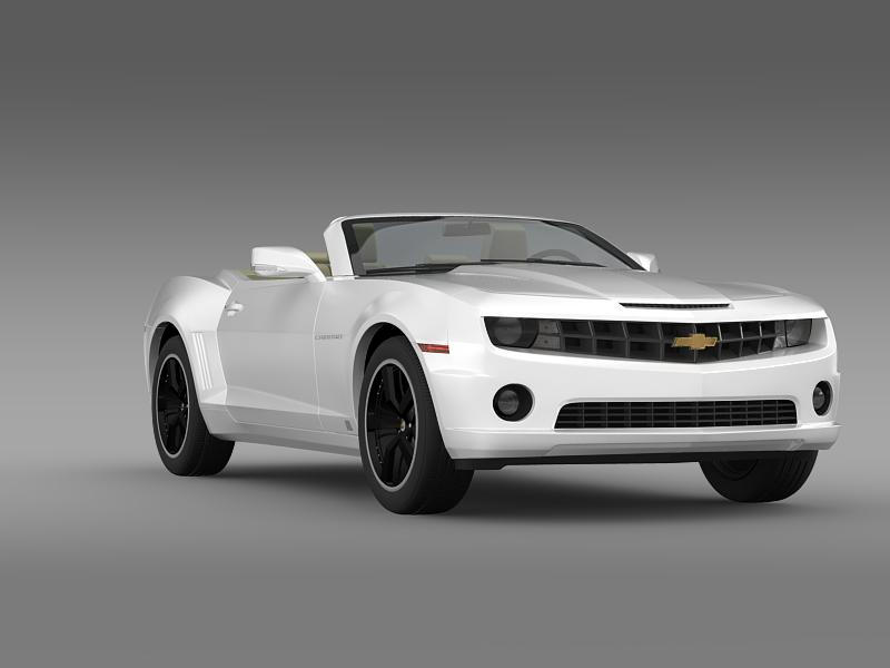 chevrolet camaro euversion 2012 convertible 3d model 3ds max fbx c4d lwo ma mb hrc xsi obj 149039