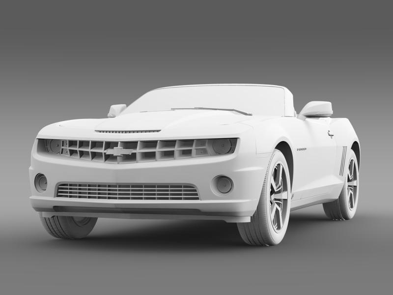 chevrolet camaro euversion 2012 convertible 3d model 3ds max fbx c4d lwo ma mb hrc xsi obj 149042