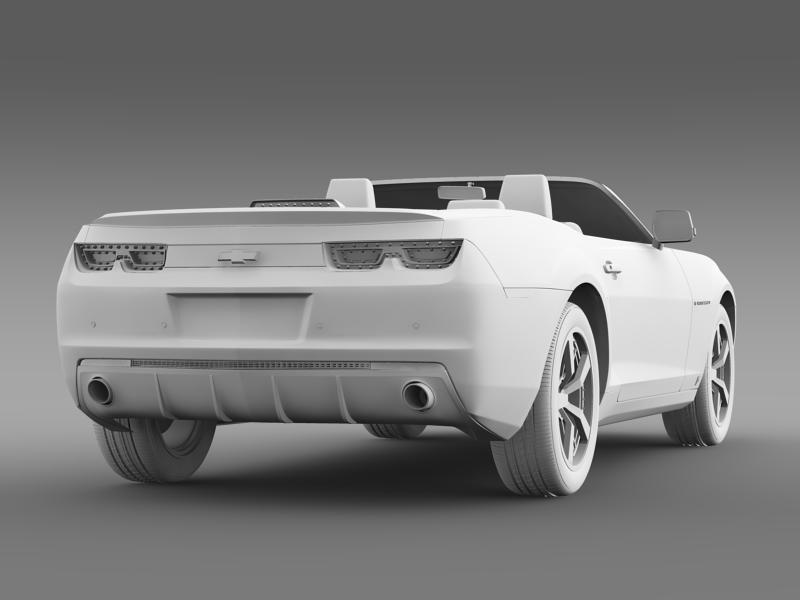 chevrolet camaro euversion 2012 convertible 3d model 3ds max fbx c4d lwo ma mb hrc xsi obj 149043