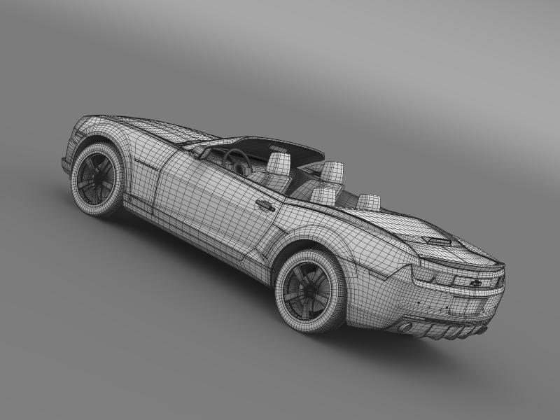 chevrolet camaro euversion 2012 convertible 3d model 3ds max fbx c4d lwo ma mb hrc xsi obj 149046